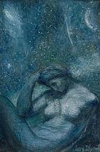 Lucien Lévy-Dhurmer Alger, 1865 - Le Vésinet, 1953 La Nuit Pastel