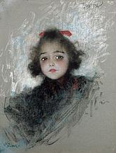 Lucien Lévy-Dhurmer Alger, 1865 - Le Vésinet, 1953 Portrait de Rosita Pastel