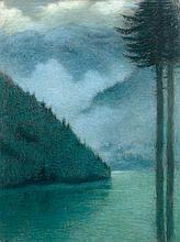 Lucien Lévy-Dhurmer Alger, 1865 - Le Vésinet, 1953 Vue présumée du lac du Bourget Pastel
