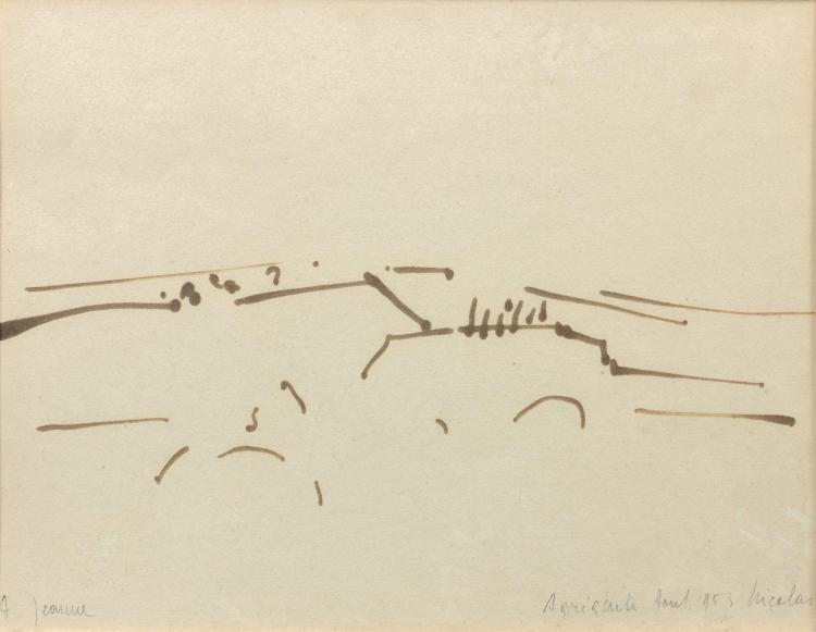 Nicolas de STAEL (1914-1955) SANS TITRE - 1953 Feutre sur papier