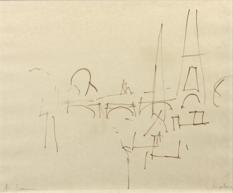Nicolas de STAEL (1914-1955) SANS TITRE Feutre sur papier