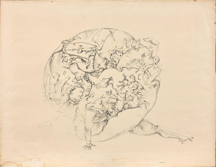 DADO (1933 - 2010) SANS TITRE - 1963 Encre sur papier