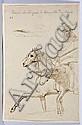 Léon Cogniet Paris, 1794 - 1880 Cavalier maure et son âne Plume et encre brune, Leon Cogniet, Click for value