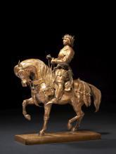 Antoine-Louis Barye Paris, 1795 - 1875 Charles VII le Victorieux Bronze non patiné