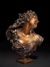 Jean-Baptiste Carpeaux Valenciennes, 1827 - Courbevoie, 1875 Bacchante aux roses n° 1 Bronze à patine brun clair mordoré