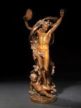 Jean-Baptiste Carpeaux Valenciennes, 1827 - Courbevoie, 1875 Le Génie de la danse n° 1 Bronze à patine brun clair, circa 1875