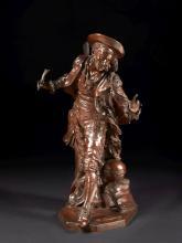 Jean-Baptiste Carpeaux Valenciennes, 1827 - Courbevoie, 1875 Figaro Bronze à patine brun clair, circa 1875