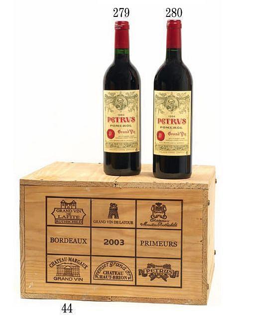 6 bouteilles CAISSE BORDEAUX PRESTIGE : 1 bt : CHÂTEAU LAFITE ROTHSCHILD 2003 1er GC Pauillac