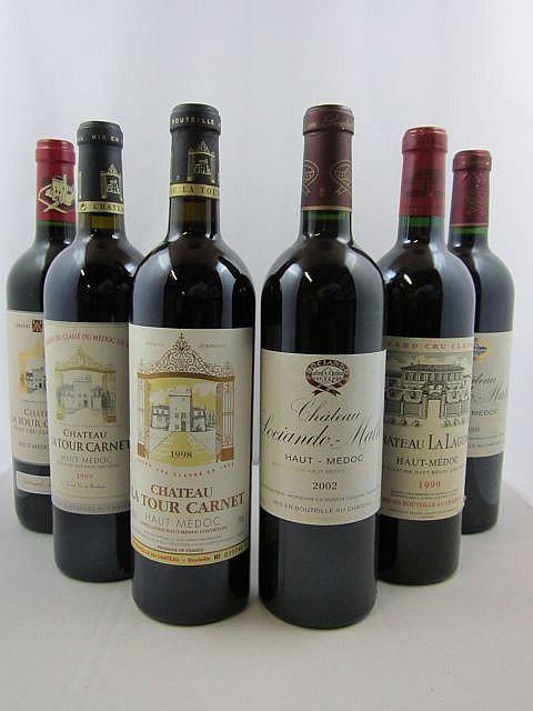 11 bouteilles 1 bt : CHÂTEAU SOCIANDO MALLET 1999 CB Haut Médoc