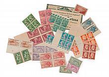 France - Ensemble de timbres-poste neufs de la période 1920 à 1940, principalement en blocs et en feuilles dont quelques bonnes vale...