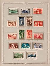 France - Collection de timbres-poste semi modernes et modernes  avec un lot d'enveloppes affranchies de timbres des anciennes Coloni..