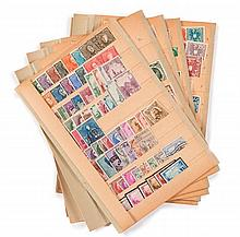 Belgique et Autriche - Un ensemble de timbres-poste  de la période semi modernes, neufs et oblitérés.