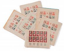Principauté de Monaco - Important ensemble de timbres-poste en feuilles et en blocs.