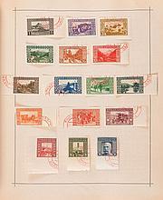 Étranger divers - 2 Albums Schaubeks contenant des timbres-poste tous pays, principalement oblitérés.