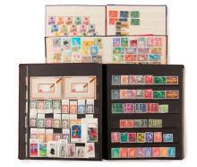Étranger divers - Ensemble de timbres-poste de pays d'Europe et d'outre-mer, neufs et oblitérés. Joint, un ensemble d'enveloppes aff