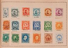 Étranger divers - Album Maury contenant des timbres-poste tous pays, principalement oblitérés, dont de nombreux fiscaux peu communs.