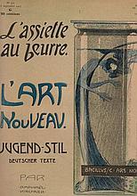 Cartes postales - Raphaël KIRCHNER - Jugendstil. Couverture illustrée de l'Assiette au Beurre, consacrée à l'Art Nouveau.