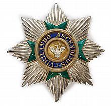 Allemagne Saxe Ordre du Faucon blanc. Plaque. Argent