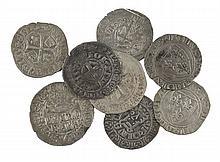 Jean II le Bon (1350-1364). Gros à la couronne (Dy. 305). Gros à la fleur de lis. (Dy. 304). Gros à la queue (2) (Dy. 300). Charles...
