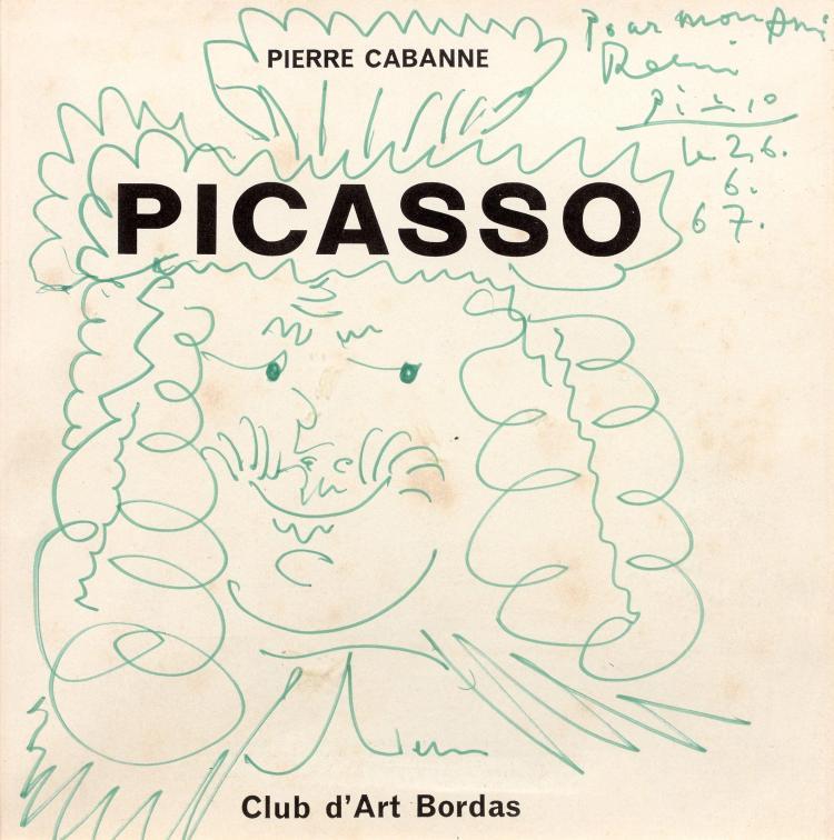 Pablo PICASSO 1881 - 1973 Roi - 1967 Feutre sur papier, page de titre de Picasso de Pierre Cabanne