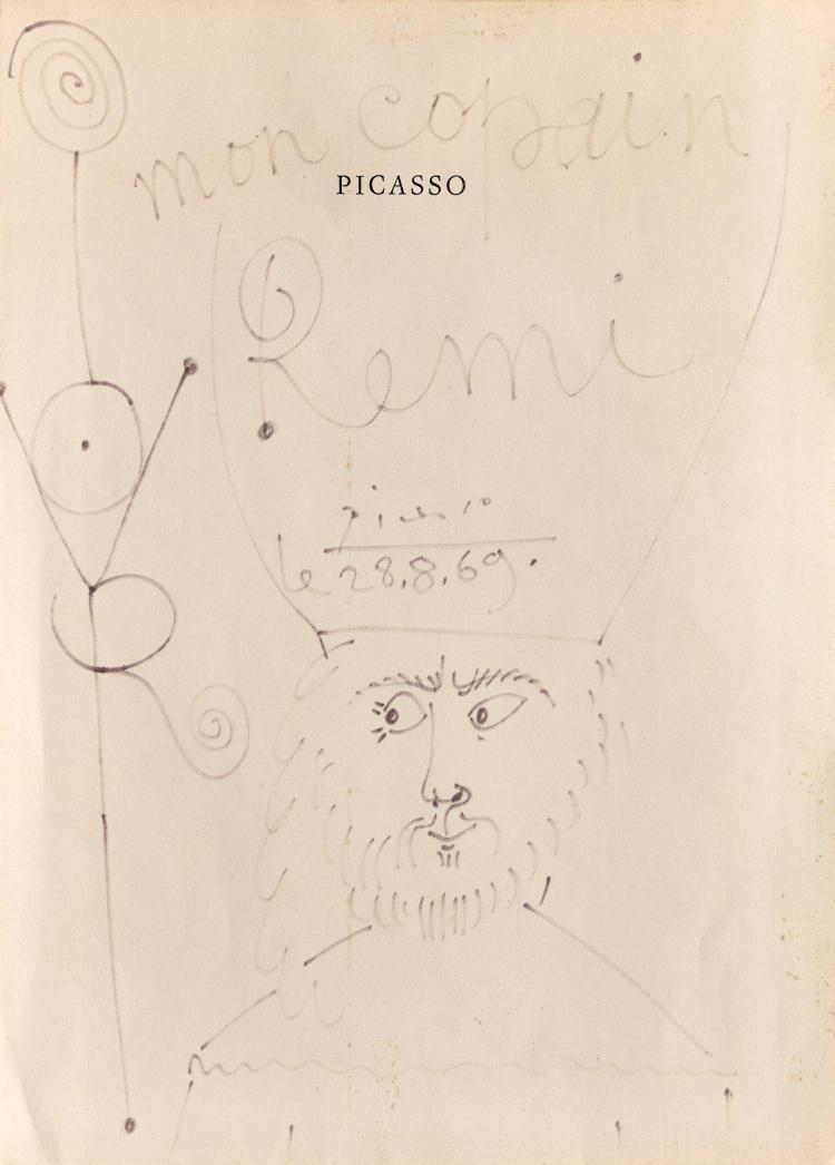 Pablo PICASSO 1881 - 1973 Empereur - 1969 Feutre sur papier