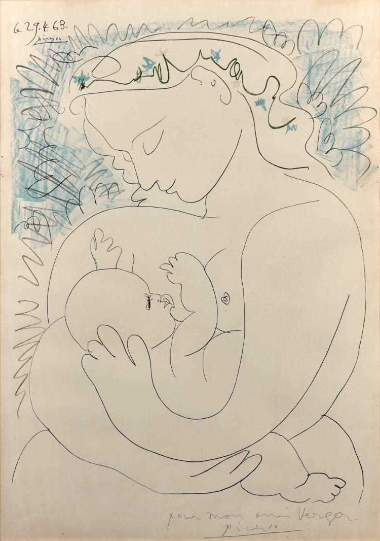 d'après Pablo PICASSO 1881 - 1973 Maternité - 1963