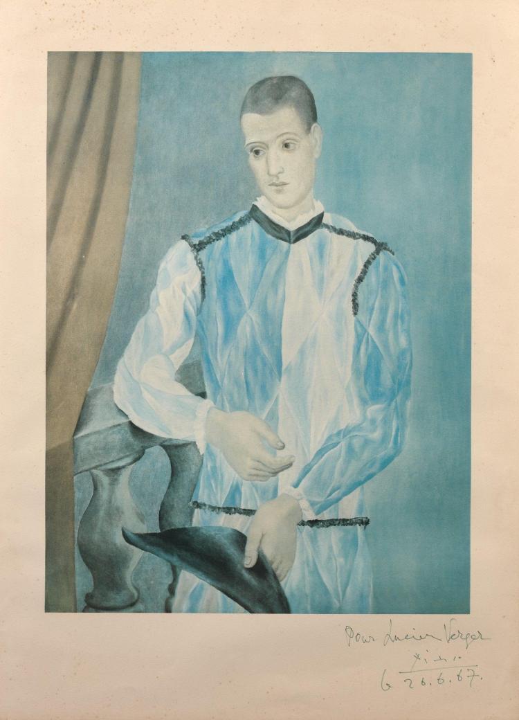 d'après Pablo PICASSO 1881 - 1973 Arlequin (Série Barcelona) - 1966