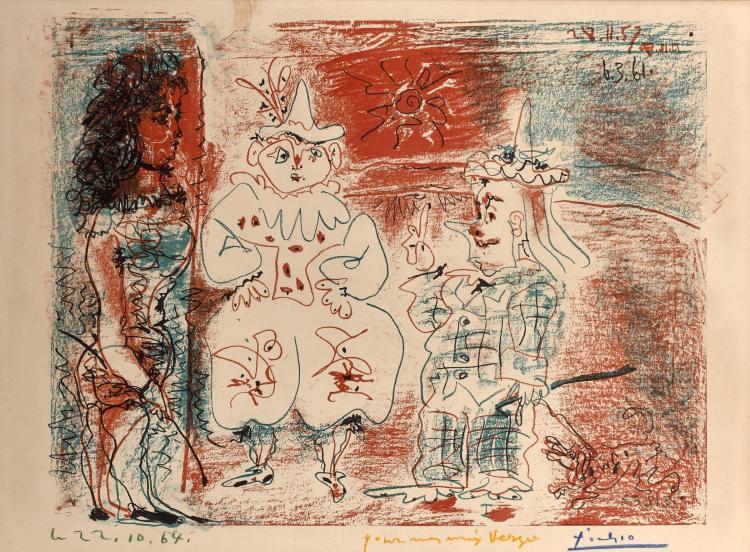 Pablo PICASSO 1881 - 1973 L'écuyère et les clowns - 1961