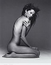 Patrick DEMARCHELIER (Né en 1943) Gisèle Bundchen– 1999 Tirage noir et blanc Iris