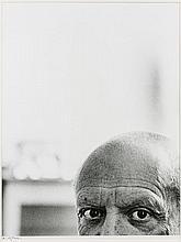 André VILLERS (Né en 1930) Les yeux de Picasso, Cannes -1956 Tirage argentique