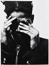 Jérome SCHLOMOFF (Né en 1961) Jean-Michel Basquiat, Paris -1988 Tirage argentique