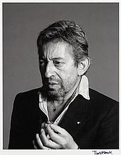 Tony FRANK (Né en 1945) Serge Gainsbourg, blazer noir - 1985 Tirage argentique sur papier baryté