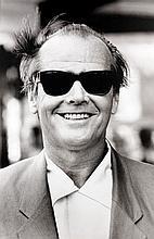 Michel GINIES (Né en 1952) Jack Nicholson, Paris - 1990 Tirage jet encre monté sur aluminium