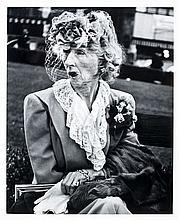 Lisette MODEL (1906-1983) Woman with veil, San Francisco - 1949 Tirage argentique vers 1970, réalisé pour le portfolio « Lisette Mod...