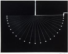 Berenice ABBOTT (1898-1991) Multiple Exposure of a Swinging Ball - vers 1958 Tirage argentique, avant 1960, monté sur carton