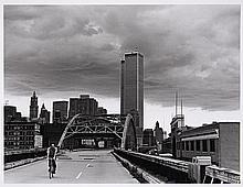 JS CARTIER  West side Highway, Canal St. Bridge et World Trade Center - 1977 Tirage argentique sur papier baryté mat