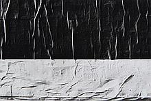 Lucien HERVE (1910 - 2007) Mur préparé pour affichage, Paris - 1956 Tirage argentique d'époque