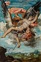 Gabriel Ferrier Nîmes, 1847 - Paris, 1914 L'enlèvement de Ganymède Huile sur papier marouflé sur toile, mis au carreau, Gabriel (1847) Ferrier, Click for value