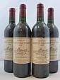 4 bouteilles CHÂTEAU LARRIVET HAUT BRION 1988 CC Pessac Léognan (étiquettes sales)