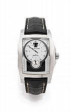 BREITLING for BENTLEY FLYING B HEURES SAUTANTES vers 2008 Grande montre bracelet en acier. Boîtier rectangle, couronne vissée. C...