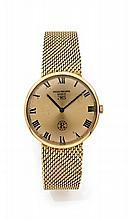 PATEK PHILIPPE IOS réf: 3562-1, N° 2699852 vers 1960 Belle montre bracelet en or. Boîtier rond, fond de boîte gravé