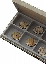 Lot de 12 cadrans ROLEX.   SET OF 12 DIALS FOR ROLEX WRISTWATCHES
