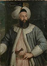Attribué à Pierre Gobert Bagnolet, 1706 - Malte, 1798 Portrait de l'ambassadeur ottoman Yirmisekiz Tchélébi Mehmed efendi Huile sur...
