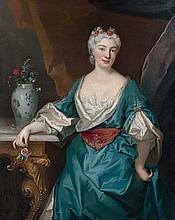 Ecole française vers 1710 Atelier de Nicolas de Largillierre Portrait d'une dame de qualité Huile sur toile
