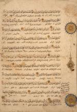 PAGE CORANIQUE NASKHI, PROCHE-ORIENT, 14ÈME SIÈCLE