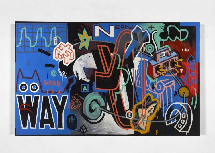SPEEDY GRAPHITO Français - Né en 1961 Way- 1989 Acrylique sur toile