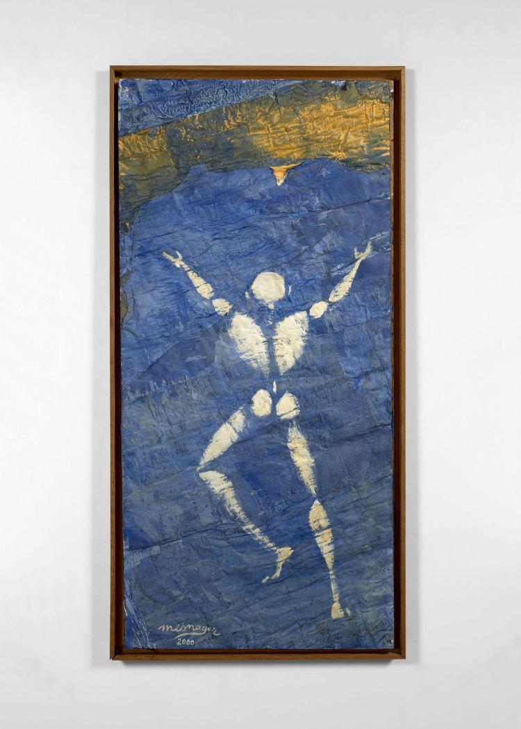Jérôme MESNAGER Français - Né en 1961 Rêve bleu - 2000 Acrylique sur affiches fixées sur châssis