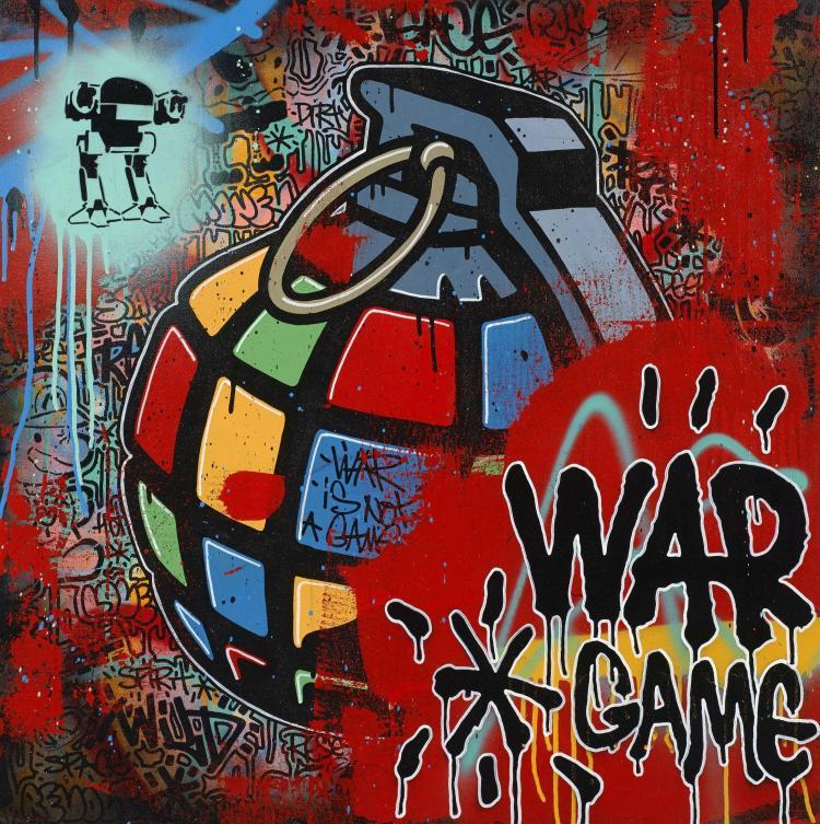 ¤ SPEEDY GRAPHITO Français - Né en 1961 War Game - 2011 Technique mixte et acrylique sur toile