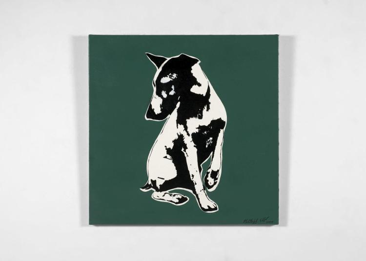 BLEK LE RAT Français - Né en 1951 His master voiceless - 2007 Pochoir et peinture aérosol sur toile