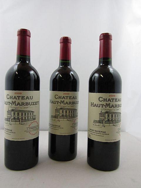 6 bouteilles CHÂTEAU HAUT MARBUZET 2009 CB Saint Estèphe